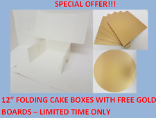 "12"" Folding Cake Box & Free Gold Board- LIMITED TIME ONLY!!! - SPECIAL OFFER"