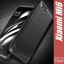 Xiaomi Mi6 Mi 6 Case Cover Carbon Shockproof Rugged Armor Navy Frosted Silicone