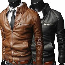 Leather (PU) Jacket for Men in Black Color Stylish Designer Motorcycle JK3F