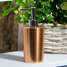 Brushed Copper Plastic Bathroom Kitchen Sink Lotion Pump Dispenser Liquid Soap