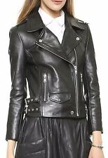 HugMe.fashion Leather PU Real Women's Bomber Genuine Leather Jacket LJK6F