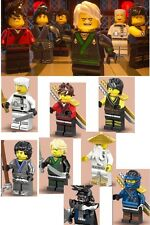 The Lego Ninjago Movie custom Minifigures, Inc: Lloyd Garmaddon, Kai - Fits Lego