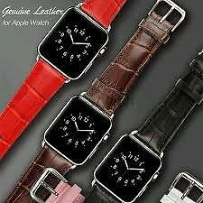 100% Original 42 mm Leather Wrist Watch Strap Band Belt for iWatch Apple Watch