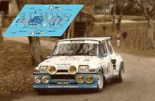 Calcas Renault 5 Maxi Turbo Rally Quercy 1986 1 Slot decals De Meyer