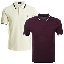 Fred Perry Men's Twin Tipped Polo Shirt Mens Short Sleeve Pique Polo Shirt Top