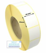 38mm x 38mm Direct Thermal labels with Peelable Adhesive. 1k per roll.