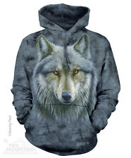 WARRIOR WOLF Brown Wolves The Mountain Pullover Hoodie Sweatshirt Jacket S- 2XL