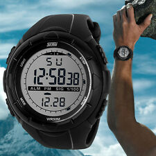 Men LED Digital Military Dive Swim Watches Date Outdoor Sports Wrist Watch