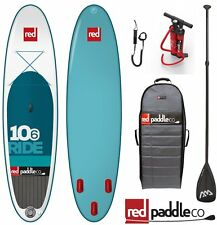 RED Paddle CO CAVALCARE Set 10.6' STAND UP Surfboard gonfiabile pinna POMPA