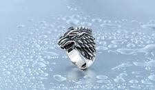 Stainless Steel Game Of Thrones Ice Wolf House Stark Of Winter Ring