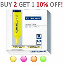 Box Staedtler Textsurfer Classic Highlighter Choice of 4 Colours x 10