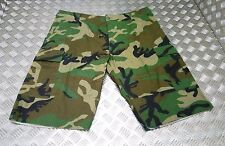 US Army Style Ripstop 6 Pocket Combat / Field Cut Down Trousers Woodland Camo XL