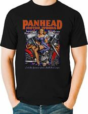 Biker T Shirt Panhead Sexy Pinup Motorcycle Mens Sizes Small to 6XL and Tall