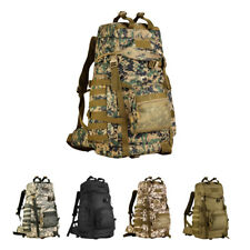 60L Outdoor Adjustable Military Tactic Backpack Rucksack Hiking Travel Bag