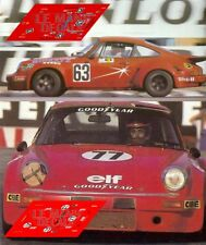 Calcas Porsche 911 Carrera RSR Le Mans 1976 63 1:32 1:43 1:24 1:18 slot decals