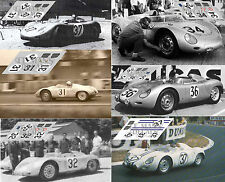 Calcas Porsche 718 RSK Le Mans 1959 31 32 34 36 1:32 1:24 1:43 1:18 slot decals