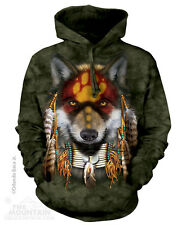 NATIVE AMERICAN INDIAN WOLF WOLVES Mountain Pullover Hoodie Sweatshirt Jacket