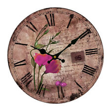 14Inch Rustic Style Flowers Wall Mounted Clock Fashion Personality Clock NEW