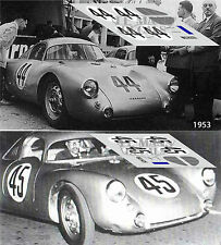 Calcas Porsche 550 Le Mans 1953 44 45 1:32 1:24 1:43 1:18 slot decals