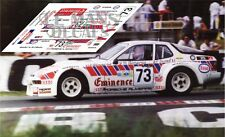 Calcas Porsche 924 GTR Le Mans 1981 73 1:32 1:43 1:24 1:18 slot decals