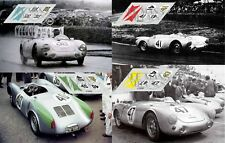Calcas Porsche 550 Le Mans 1954 39 40 41 47 1:32 1:24 1:43 1:18 slot decals