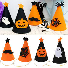 Halloween Party Felt Cone Hat Headdress Gift Ghost/Pumpkin/ Mustache/Spider