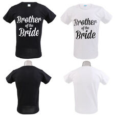 Brother of the Bride T-shirt Letters Print Mens Short Sleeve Tee Wedding Decor
