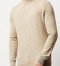 River Island Men's Crew Neck Stone Jumper- New With Tags