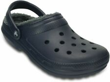 crocs Classic Fuzz Lined Clog Navy / Charcoal Croslite/Textil, Weite: normal Cr