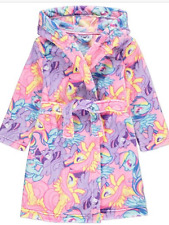 Girls Dressing Gown My Little Pony Fleece Hooded Robe Age 8-11 Years