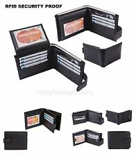 G HS Mens Leather Wallet RFID SAFE Contactless Card Blocking ID Protection