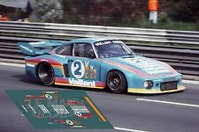 Calcas Porsche 935 Zolder 1978 2 1:32 1:43 1:24 1:18 decals