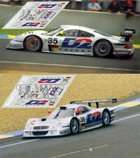 Calcas Mercedes CLK LM Le Mans 1998 35 36 1:32 1:24 1:43 1:18 slot decals