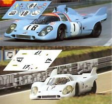 Calcas Porsche 917k Test Le Mans 1971 17 18 1:32 1:43 1:24 1:18 slot decals