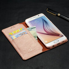 Flip Leather Business Card Holder Wallet Case Cover Samsung Galaxy S6 S7 J5 S8