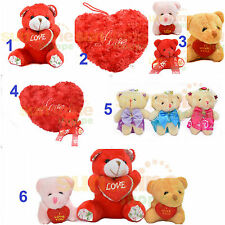 Gift Keychain Ring Red Soft Toy Teddy I Love You U Heart SALE 05