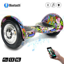 "10""ELETTRICO SCOOTER SELF BALANCE SMART MONOPATTINO BLUETOOTH SPEAKER HOVERBOARD"