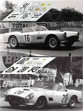 Calcas Ferrari 250 GT California Le Mans 1959 1960 1:32 1:24 1:43 1:18 decals