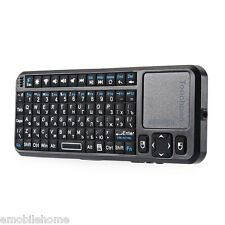 IPAZZPORT MINI WIRELESS 2.4Ghz RF telecomando mouse qwerty tastiera touchpad TV
