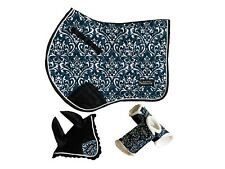 Patterned Saddle Cloth Pad with optional Fly Veil matching set!