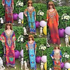 New Kaftan hippie boho kimono sleeves Digital embellished stones  prints kaftan