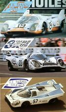 Calcas Porsche 917k Le Mans 1971 19 22 57 1:32 1:24 1:43 1:18 slot 917 decals