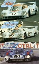 Calcas Porsche 917 LH Le Mans 1971 17 18 21 1:32 1:24 1:43 1:18 slot decals
