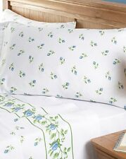 Printed Brushed Soft Cotton Flannel Rosebud Sheet Set Bedding Floral Flowers