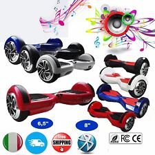 """6,5"""" 8"""" HOVERBOARD ELETTRICO SCOOTER SELF BALANCING BLUETOOTH + LUCI LED  RA"""