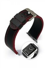 "Bracelet en cuir "" Dallas Smart "" Rouge pour montre APPLE 38mm/42mm"
