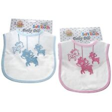 Baby Shower Gift - Rocking Horses Baby Bib With Embroidery Boy Girl