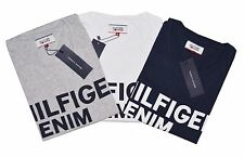 Tommy Hilfiger Hilfiger Denim Logo Crew Neck Large Printed  Men's Cotton T-shirt