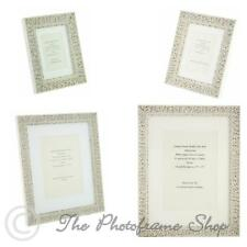 """Ornate White Shabby Chic Vintage Picture Frame with white mount - 5""""x3.5"""" - A4"""