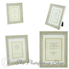 """Ornate White Shabby Chic Vintage Picture Frame - double mount  6""""x4 """"- 16""""x12"""""""